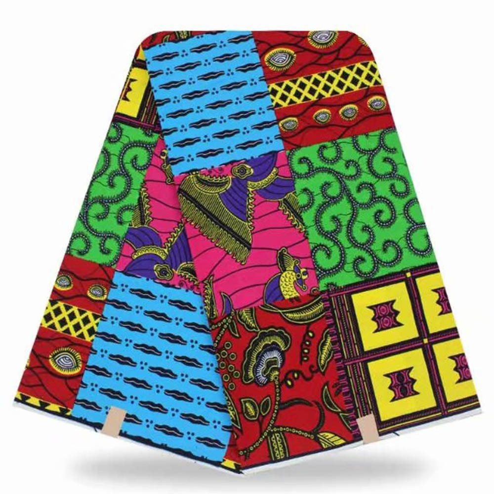 Ankara African cotton Wax Prints Fabric High Quality 6 yard Real Wax African Fabric for Party Dress