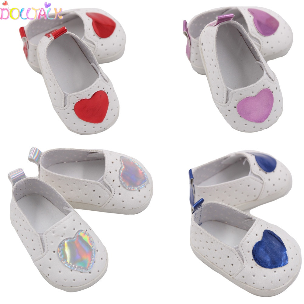Dolls Shoes Fit For 43cm New Born Baby Heart Doll Shoes 18 inch Doll Cute Shoes Doll Accessory Toy Gift For Girls,Socks недорого