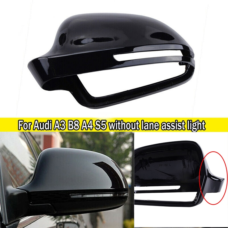 Asa Capa Espelho Cap Guarnição Para Audi-A3 A4 B8 S4 A5 S5 8T Q3 Gloss Black