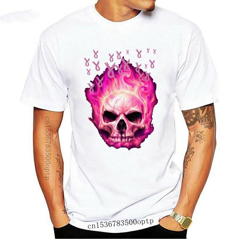 New Skull Pink Ribbon Breast Cancer Shirt