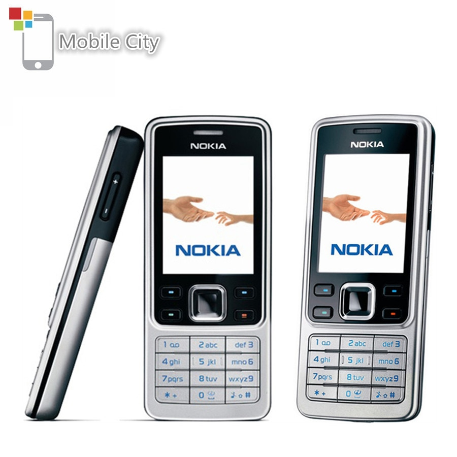 Unlocked Nokia 6300 Classical Mobile Phone FM MP3 Support English&Arabic&Russian Keyboard Refurbished Cellphones