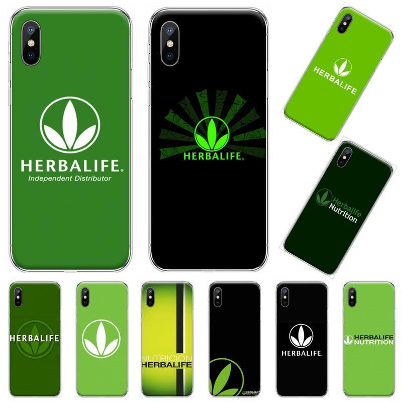 Herbalife Comida verde nutrición suave cubierta de la caja del teléfono para iphone 4 4s 5 5s 5c se 6 6s 7 8 plus x xs x xr 11 pro max
