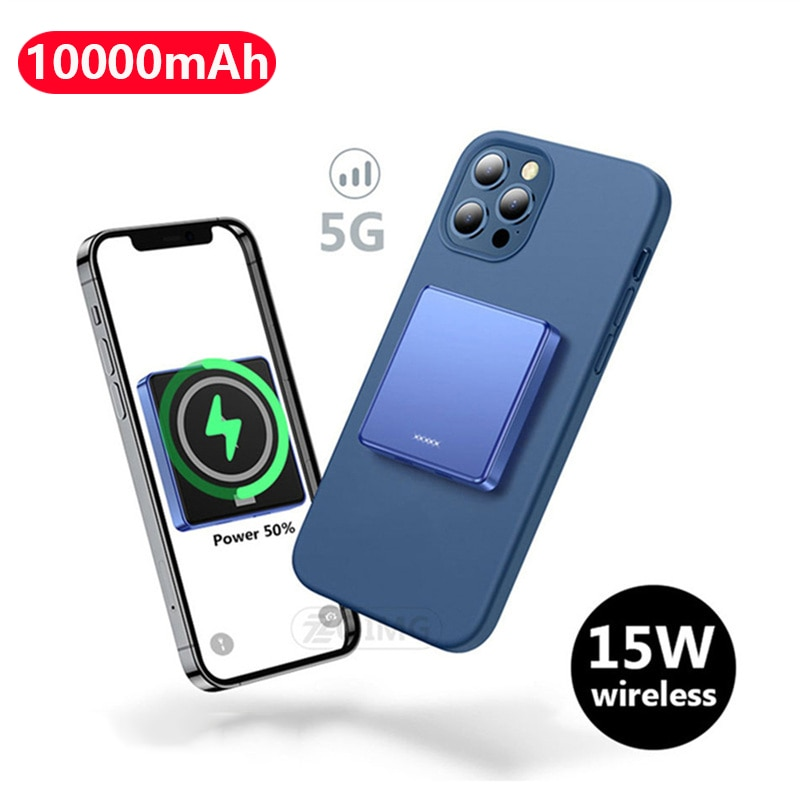 10000mAh Magnetic Power Bank 15W Fast Wireless charging For iphone 12 12Pro 12proMax 12mini Magsafe Charger Mobile Phone Battery