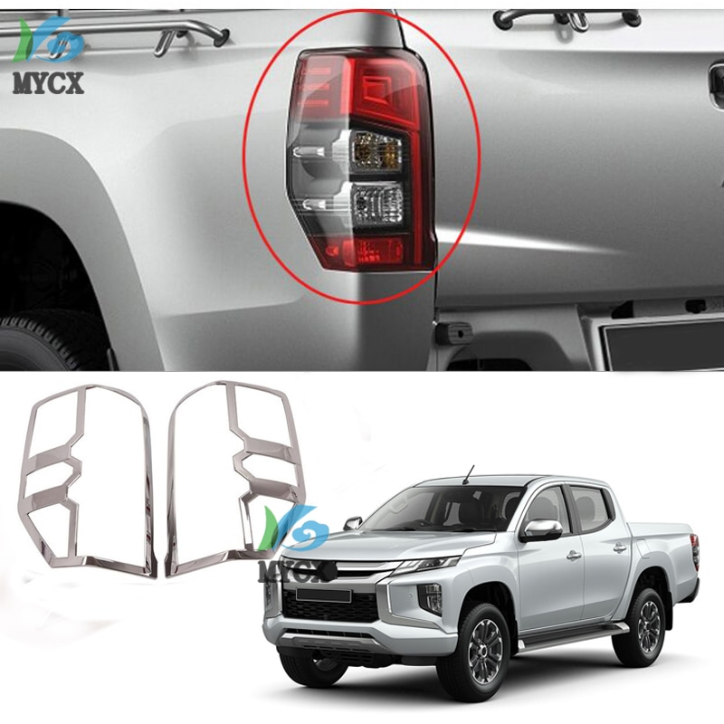 Para-mitsubishi l200 triton 2019 2020 ram 1200 abs cromo acessórios do carro luzes traseiras cobrir
