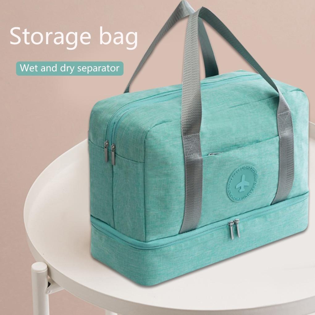 Luggage Dry Wet Separation Storage Bag Luggage Organizer Packing Travel Duffle with Shoes Bag Mesh Bag Clothing Storage Handbag