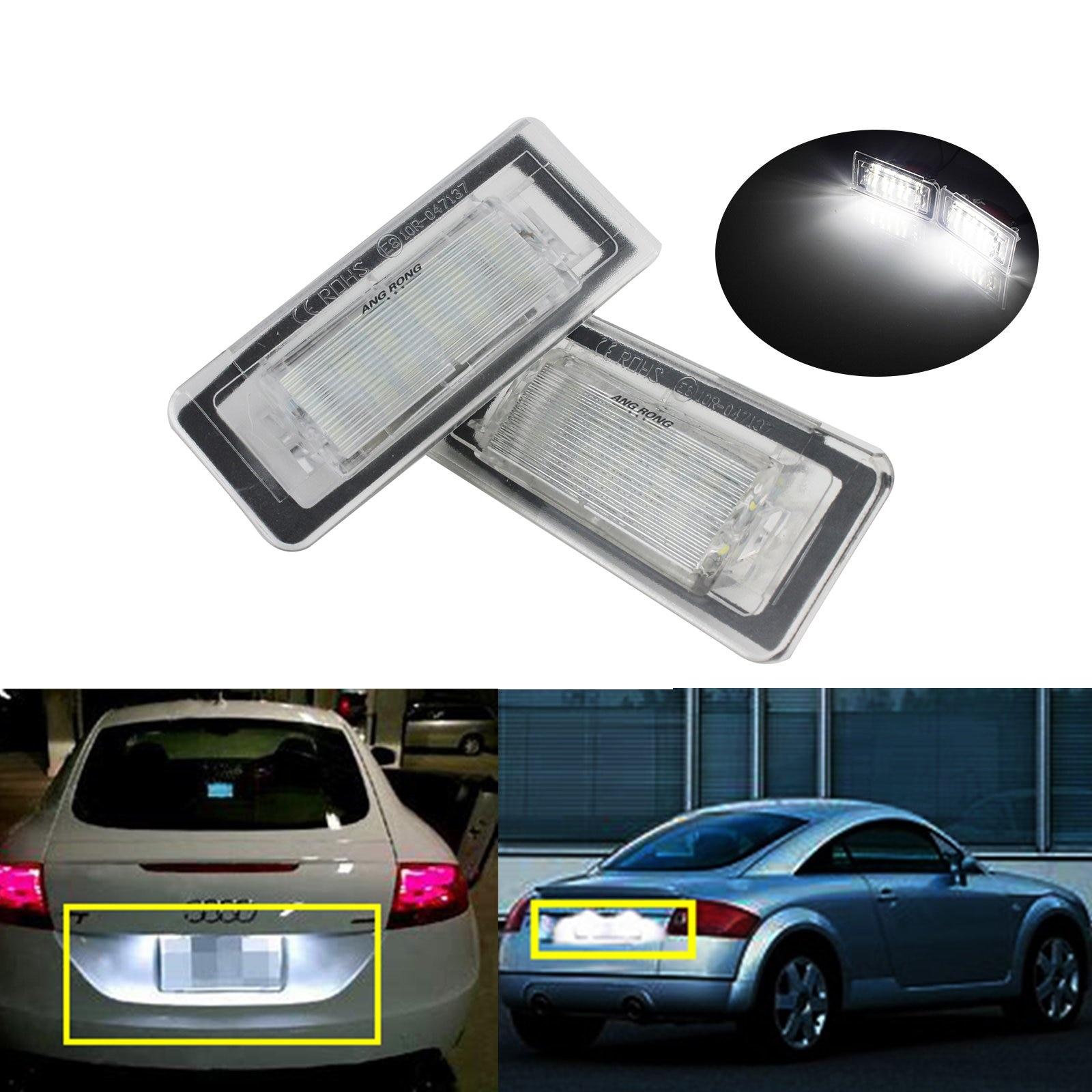 ANGRONG 2x Blanco 18 SMD LED luz de placa de matrícula para Audi TT MK1 8N 1999-06