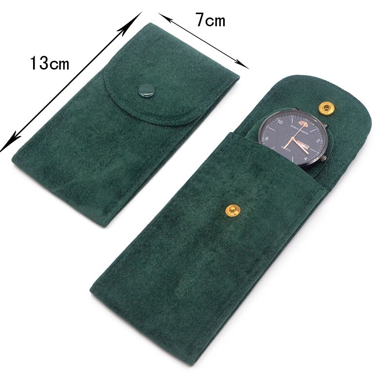 Rolexables 50PCS Top Green Watch bag Original Protective Pocket flannel Pouch Watches Pockets Green Storage Bags for GMT Box enlarge
