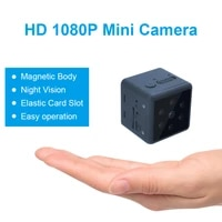mini hd 1080p magnetic base home securityoutdoor sports wireless camera portable wearable infrared lamp night vision