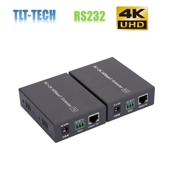 TLT-TECH 4K HDMI extender hd base t 70m with Bi-rectional IR and RS232 POC