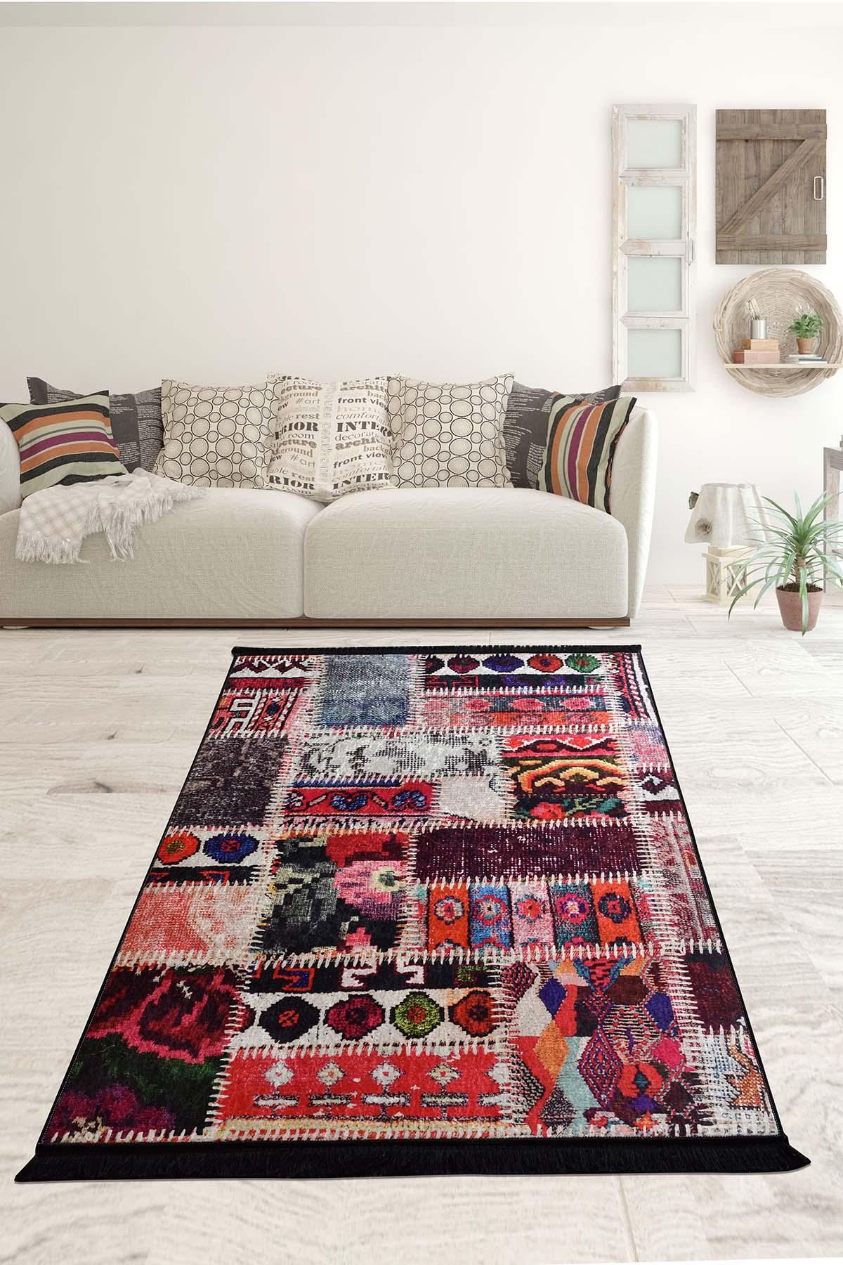 De Colores-سجادة منقوشة أصلية لغرفة المعيشة ، ديكور تركي غير قابل للانزلاق ، نعل ، ديكور مطبخ لغرفة النوم ، للديكور المنزلي