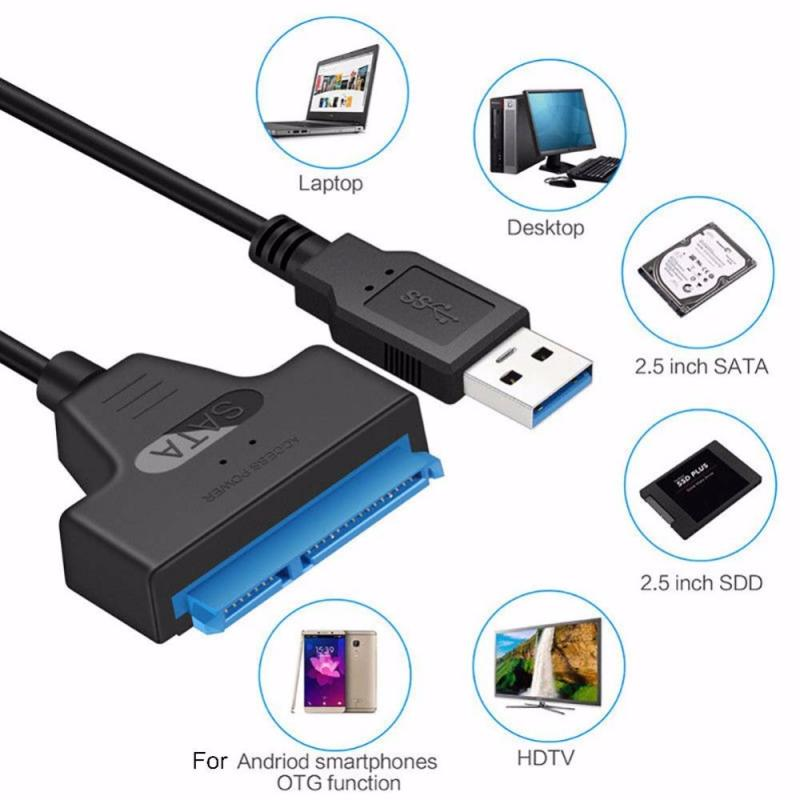 Cable convertidor de adaptador USB 3,0 a Sata III, convertidor de disco...