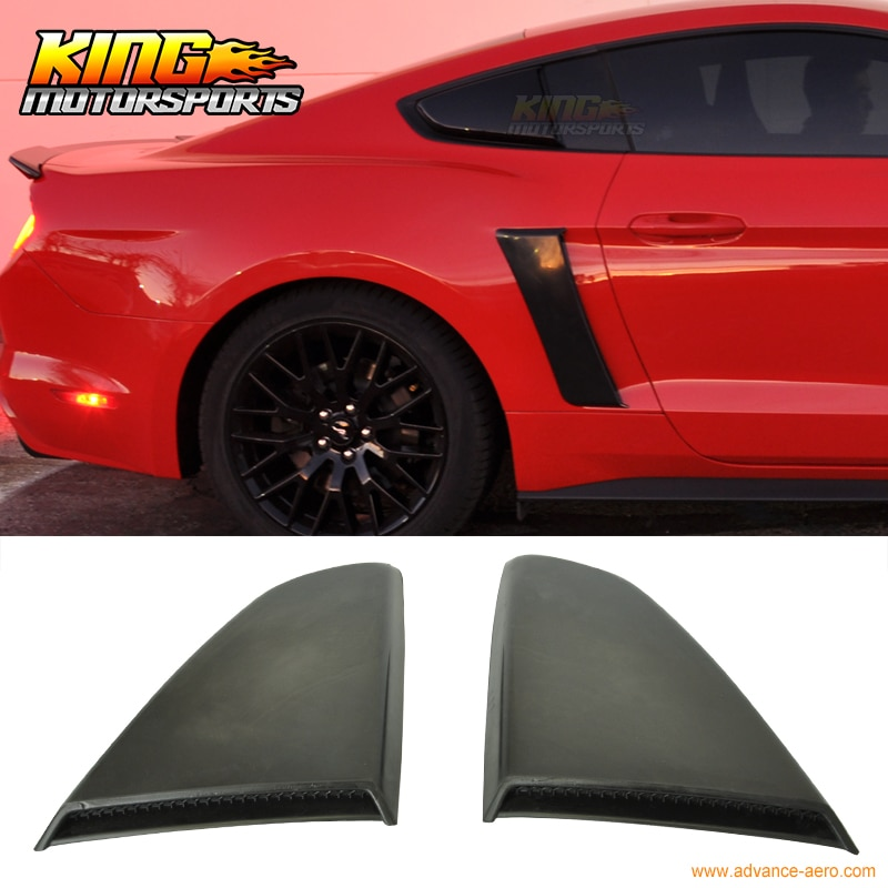 Ajuste para 2015-2016 Ford Mustang Tipo R persiana lateral de ventana-poliuretano PU