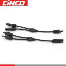 1 paire de x 1 à 2 type avec câble pv   Connexion parallèle, connecteur étanche dinstallation facile, connecteur PV pour connecter le panneau solaire