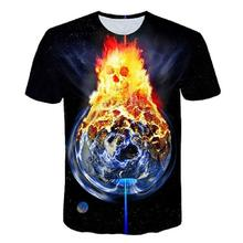 3d-printed short sleeve mens T-shirt harajuku summer mens T-shirt top water balloon fire skull shirt xxxtentacion t shirt