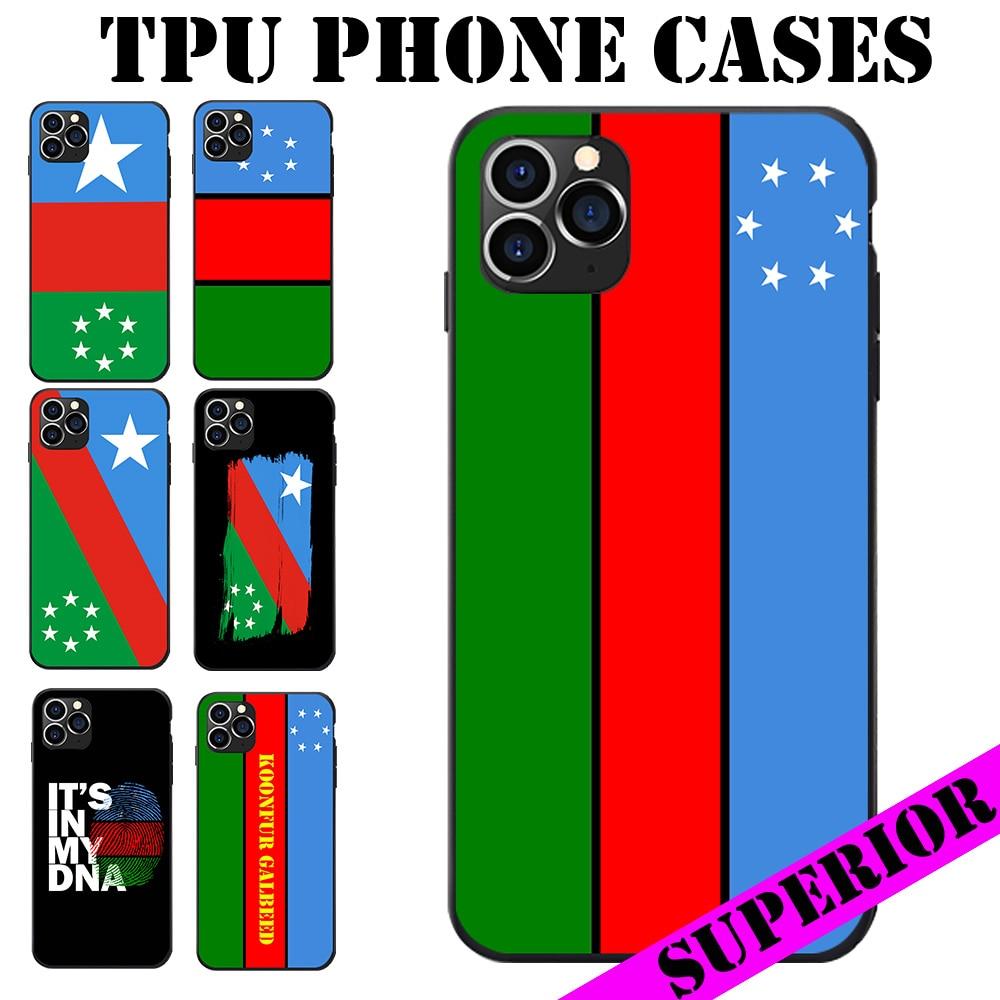 Para REDMI 5 6 7 8 T A K20 30 S2 NOTE PRO PLUS somalí Koonfur Galbeed Estado bandera regional suave TPU teléfono fundas traseras cubierta