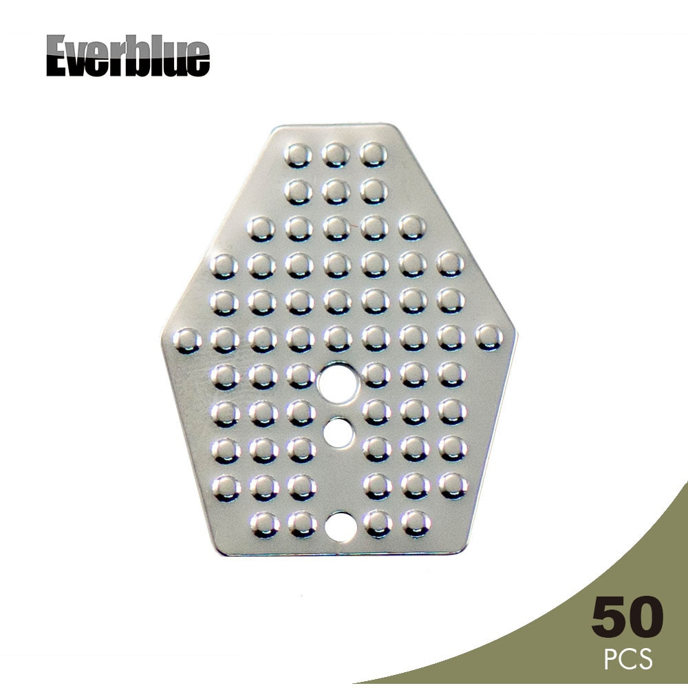 Everblue 50 pçs super aço inoxidável swim gabarito lâminas para chatterbait shakee lâmina angler equipamento artesanato