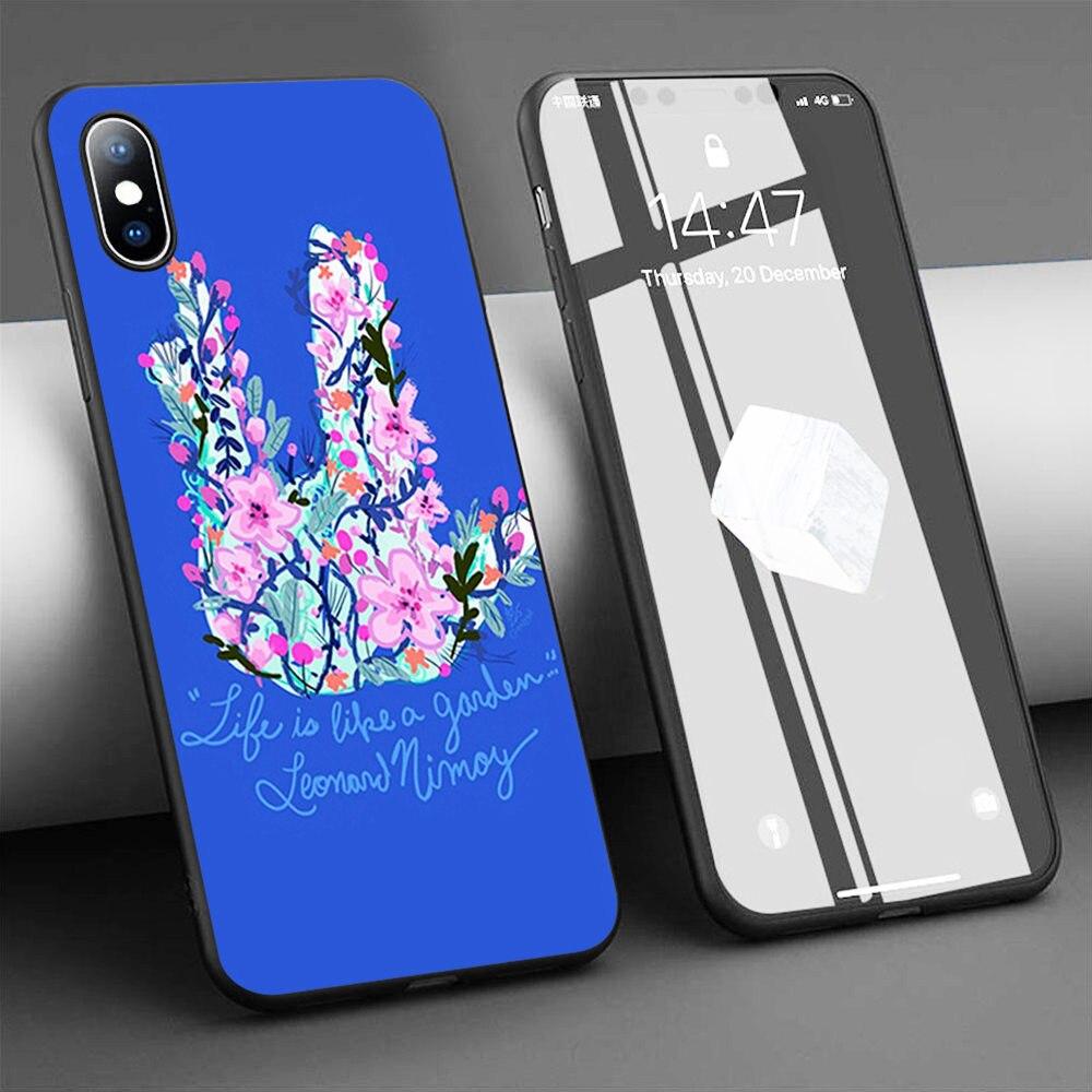 Coque vida é como um jardim macio silicone caso de telefone para o iphone 11 pro max x 5S 6s xr xs max 7 8 plus caso capa de telefone