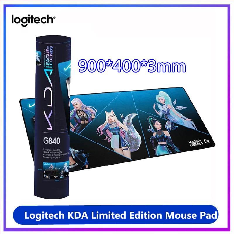 الأصلي لوجيتك KDA G840 طبعة محدودة لوحة الماوس الكبيرة 900*400*3 مللي متر الألعاب ماوس حصيرة مكتب الفئران الوسادة