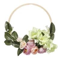 2pcs 8 artificial flower hoop wreath garland peony hanging decor wedding