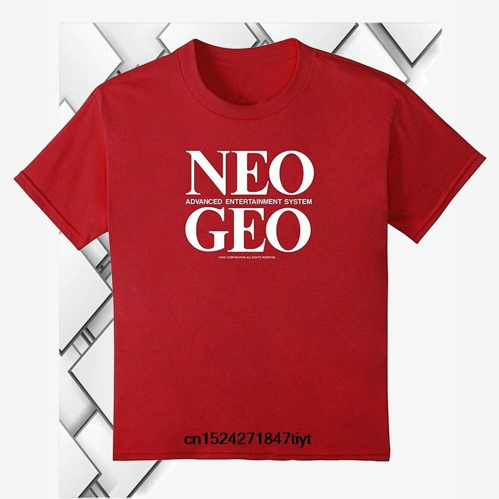 NEOGEO Logo Camiseta Hombre verano Camisetas algodón Camisetas de moda