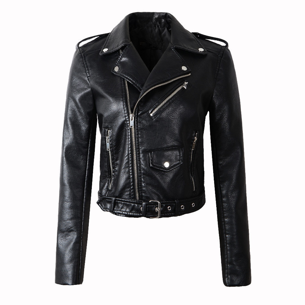 2021 Brand Winter Autumn Black Motorcycle Leather Jackets New Arrival Leather Jacket Women Leather Coat Slim PU Jacket Leather jielur autumn winter leather jacket women black zipper short coat slim korean pu kpop leather clothing mujer coat 2019 new s xl