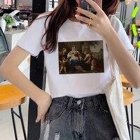 fashion oil painting print t shirt 90s cute art tee hipster grunge top streetclothing tshirts tees harajuku korean