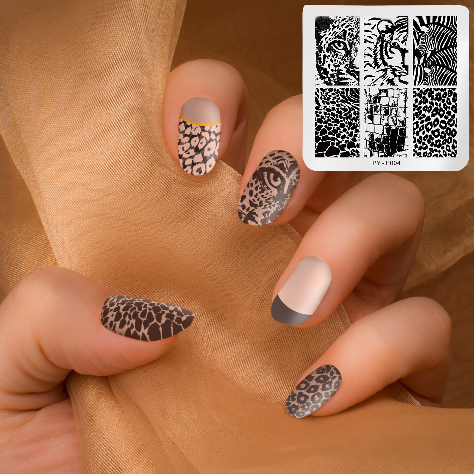 Different Styles Stencil Nail Art Stickers Design Lovely Flower Geome Nail Art Set DIY Decorative Ar