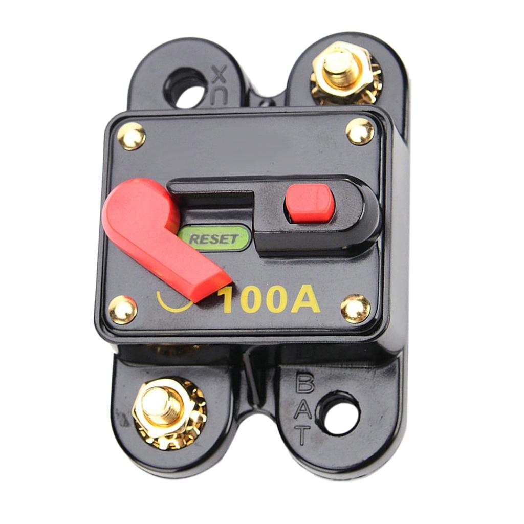 Interruptor de circuito de reinicio de 100 amperios portafusibles Control de coche barco Universal