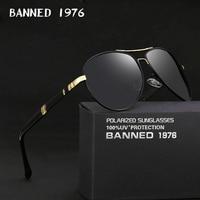 2020 new Brand Men Polarized Sunglasses man sun glasses Full Alloy Rim men sunglasses metal big Driving glasses original box