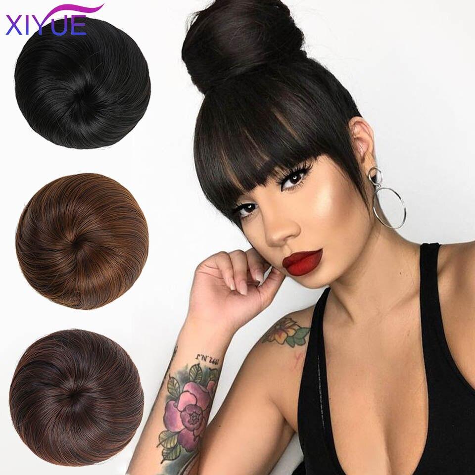 Multiple Colour Synthetic Donut Roller Elastic Blonde Bun Hair Chignon Synthetic Donut Roller Hairpieces High Temperature Fiber