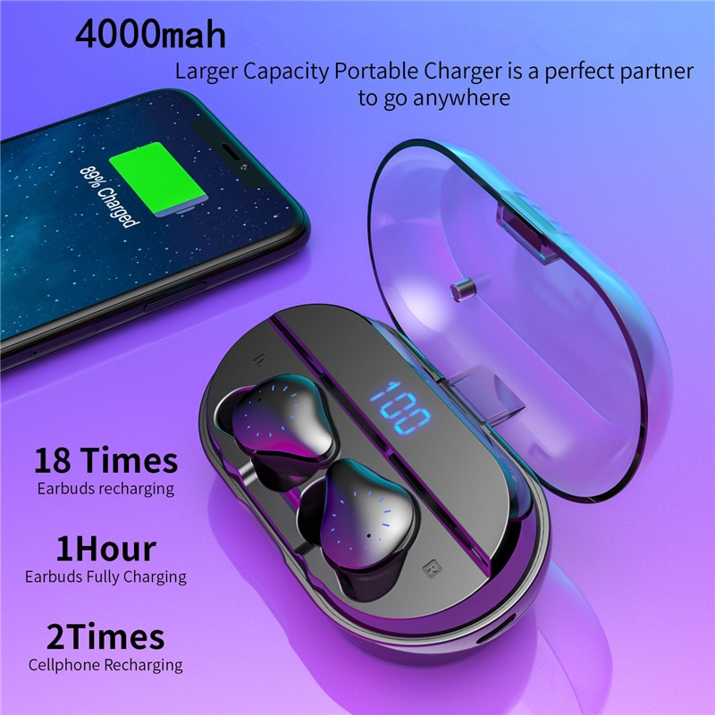 TWS Fingerprint Touch Bluetooth Earphones, HD Stereo Wireless Headphones,Noise Cancelling Gaming Headset buy china direct