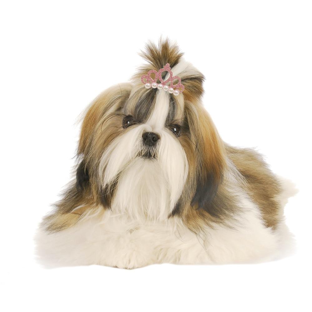 Perro gatito cachorro lindo perla Artificial pinzas para el pelo con lazo arcos moda bonita cabeza decoración pelo pasador