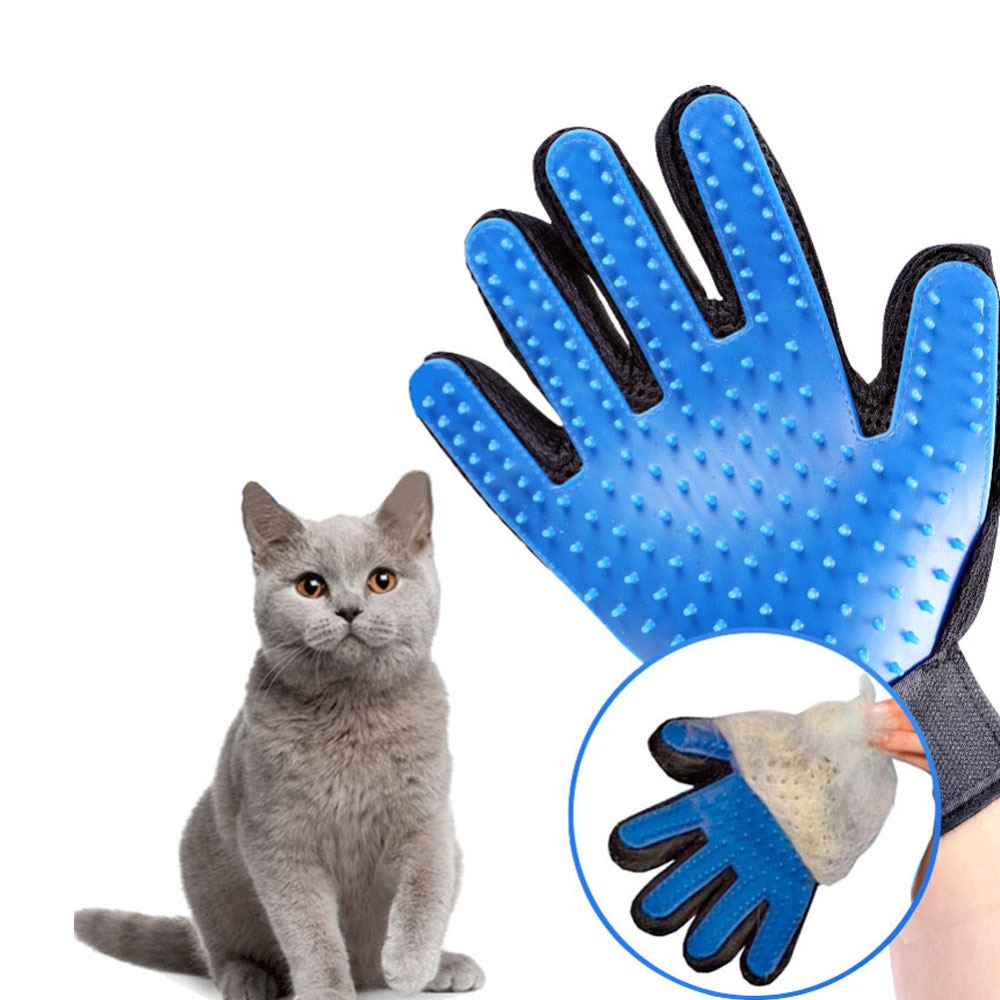 Cat grooming glove for cats wool glove Pet Hair Deshedding Brush Comb Glove For Pet Dog Cleaning Mas