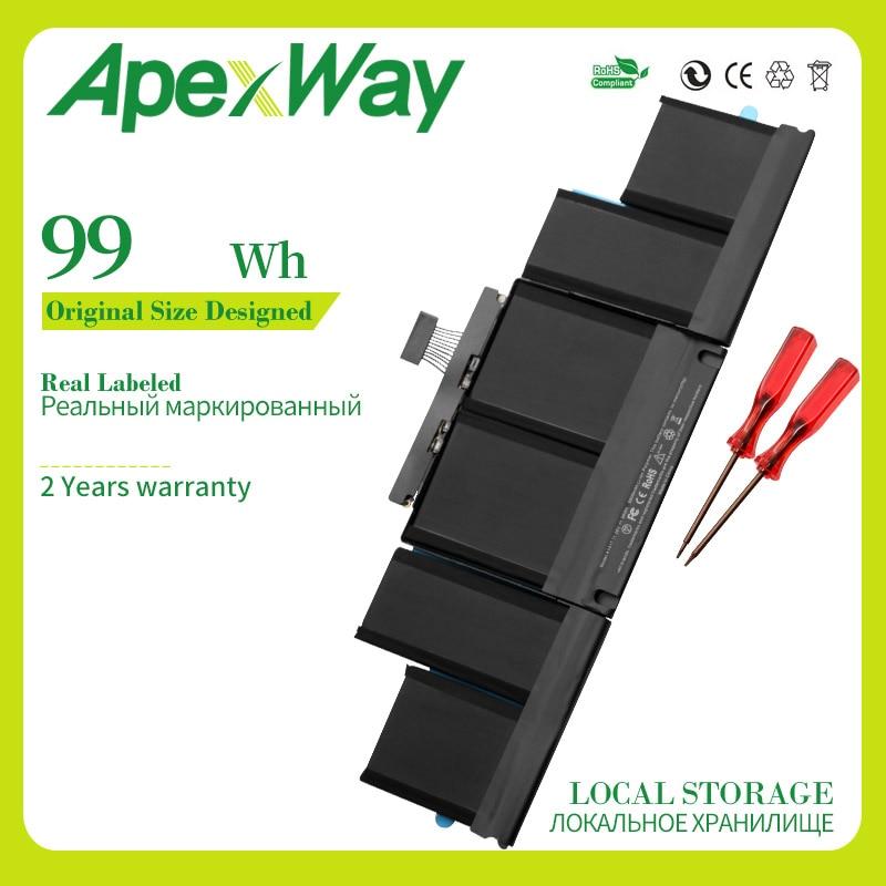 """Apexway 99Wh 11,26 V A1417 de la batería para Apple Macbook Pro 15 """"pulgadas A1398 A mediados de 2012 A principios de 2013 Retina MC975LL/MC976LL/MD831LL/"""