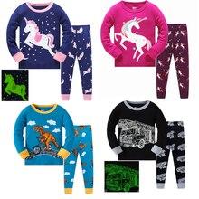 childrens pajamas Cotton pajama set girl pyjamas boys pajamas sets dinosaur pijama bebe cartoon baby unicornio sleepwear girls