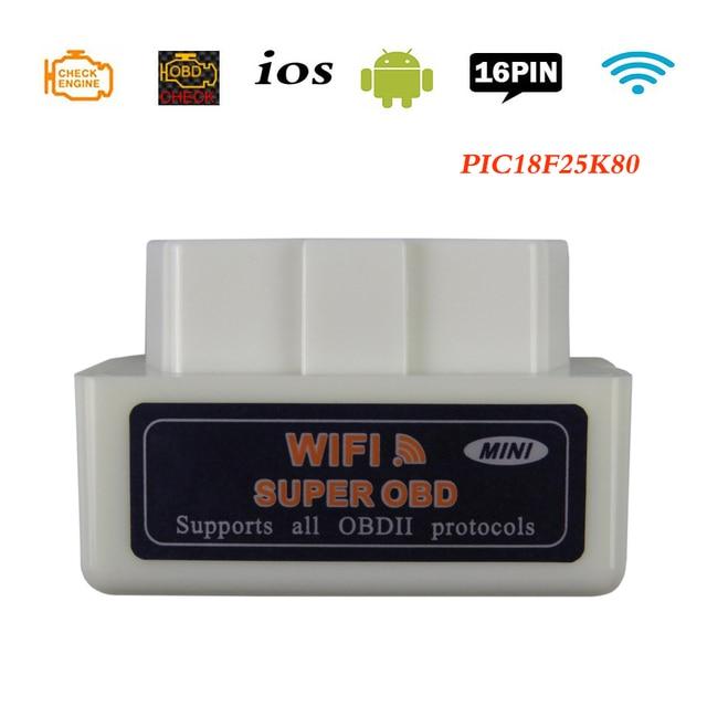ELM 327 V1.5 OBD2 сканер ELM327 Wifi OBDII автомобильный диагностический сканер iOS для автомобиля ELM 327 в 1,5 считыватель кодов OBD 2 диагностические инструменты