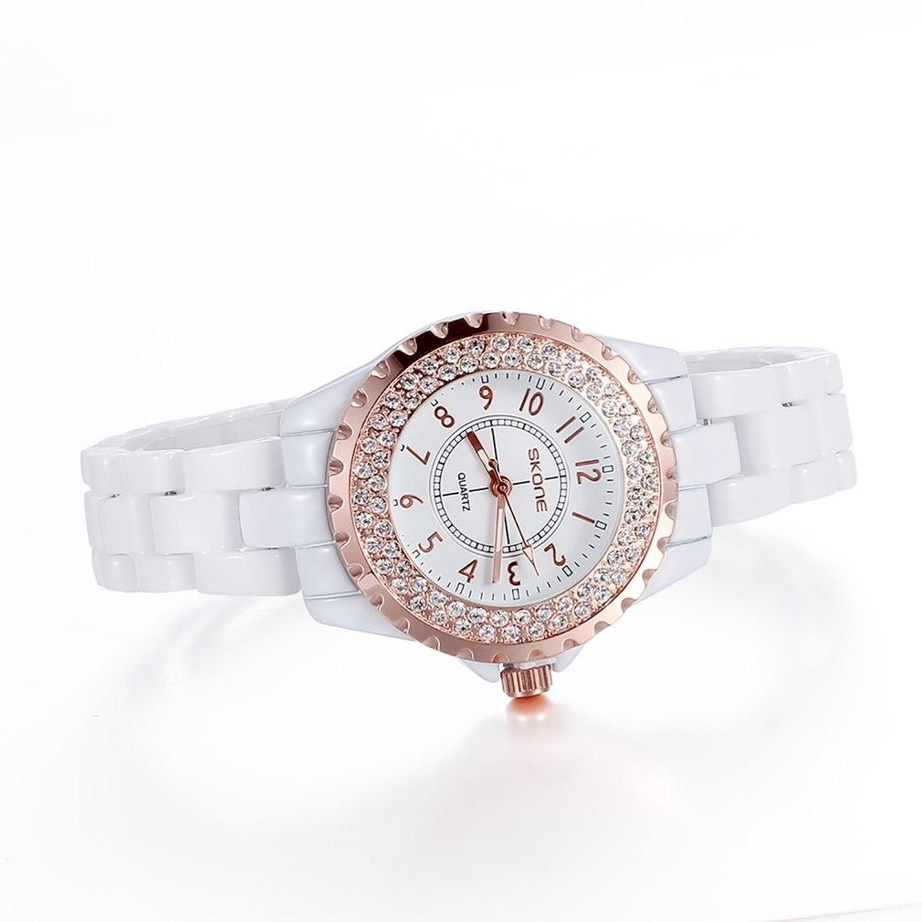 Relojes de lujo Skone para mujer, reloj de pulsera de diamantes para mujer, reloj de oro a la moda para mujer, reloj femenino