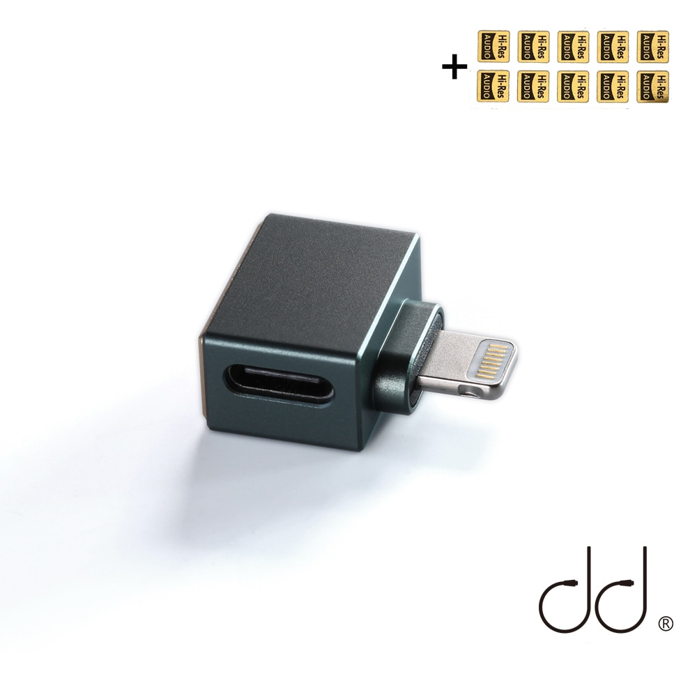 DD ddHiFi TC28i Lightning Male to Type-C Female OTG Adapter to Apply USB-C Earphones / Decoders on iOS Devices/Decoding Cables