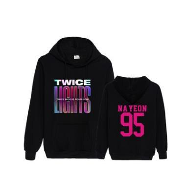 2020 KPOP Twice LIGHTS World Tour District 9 толстовки с капюшоном для женщин/мужчин Уличная одежда в стиле хип-хоп