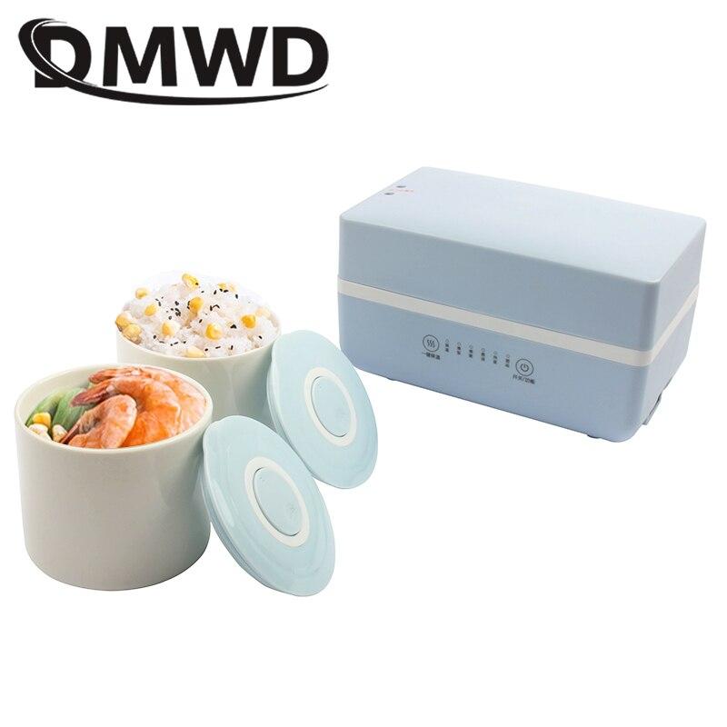 DMWD-صندوق غداء كهربائي ، وعاء شوربة صغير ، طباخ أرز ، حاوية طعام سيراميك ، صندوق غداء بينتو ، سخان عصيدة