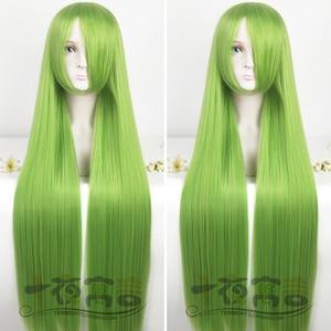 Midori Gurin Long Cosplay Wig Game Yandere Simulator Heat Resistant Hair Cos Wigs + Wig Cap