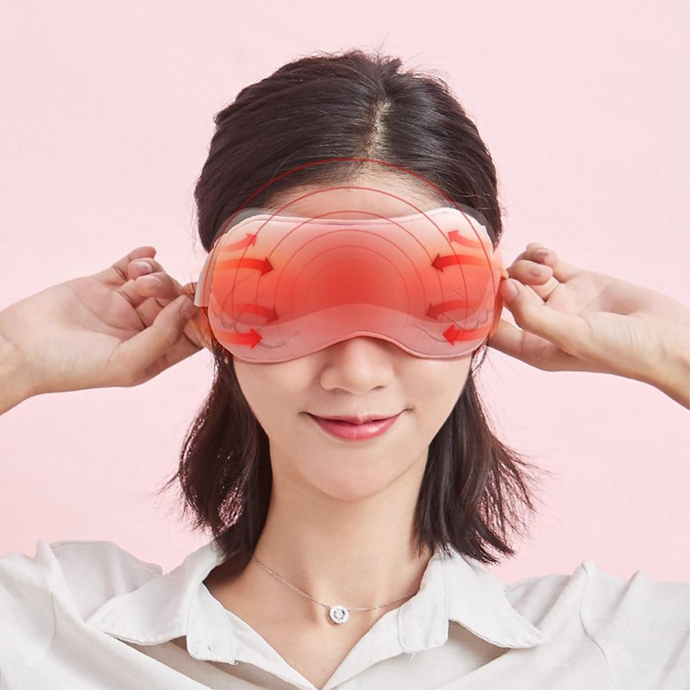 USB الساخن ضغط لصقة عين التدفئة البخار اييشادي قناع عين النوم تدليك للعيون التعب الإغاثة مكافحة الدائرة الداكنة لصقة عين