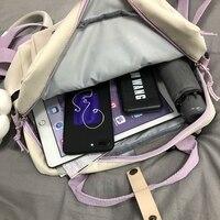 Сумка-рюкзак со значками и брелоком #5