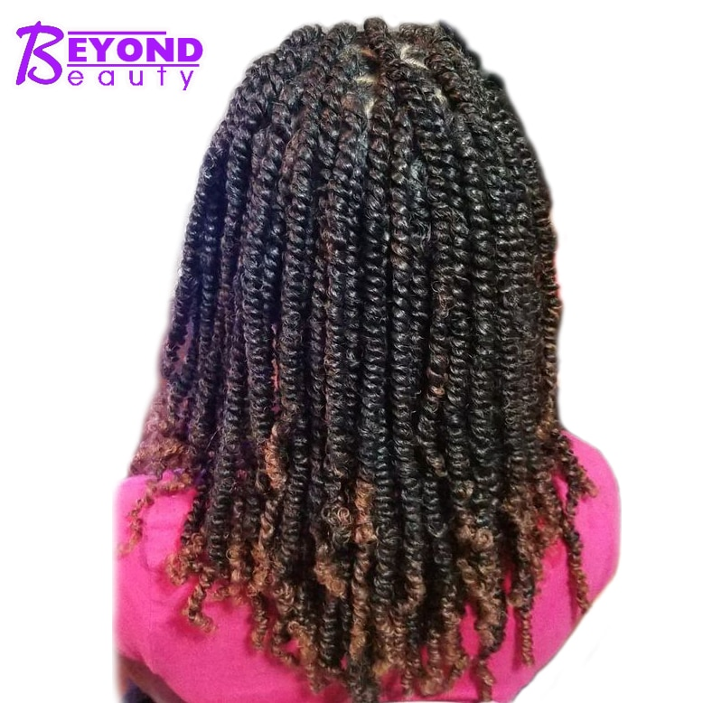 Fluffy Spring Twist Hair Extensions Black Brown Burgundy Ombre Crochet Braids Synthetic Braiding Hair Bomb Nubian Bounce Twist onxy 8inch fluffy spring twist crochet hair extensions synthetic crochet braids black brown ombre braiding hair 110g