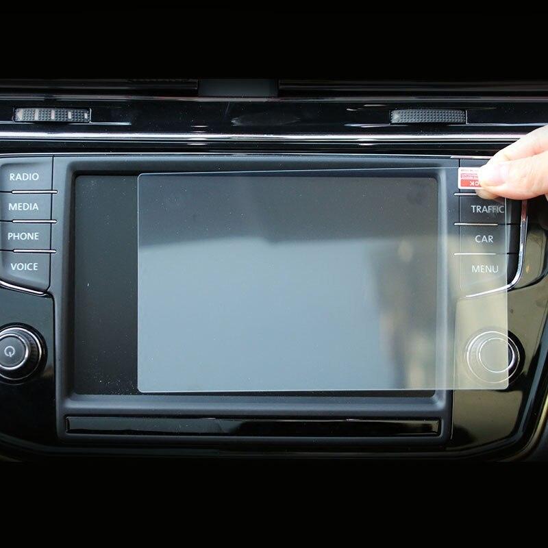 Película protectora de cristal templado para pantalla de navegación GPS de coche para VW Tiguan MK2 2016 2017, pantalla táctil LCD, cubierta protectora, pegatina