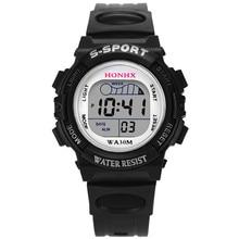 2021 Waterproof Children Boy Digital LED Quartz Alarm Date Sport Watch For Kid Children Student Girl