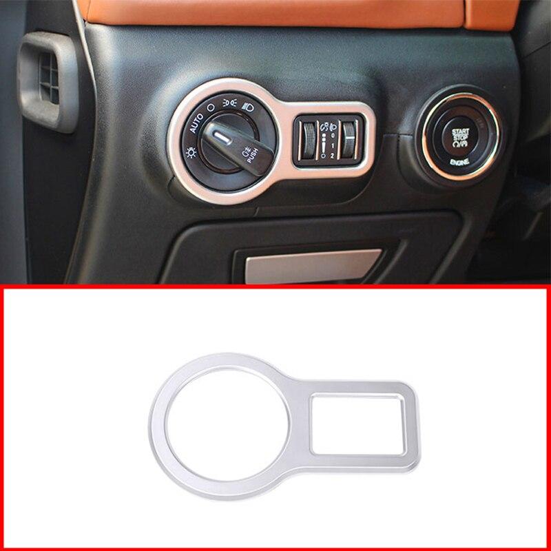 Para Maserati Quattroporte Ghibli, accesorios de estilo de coche ABS, Plata Mate, interruptor de Faro, molduras de Marcos