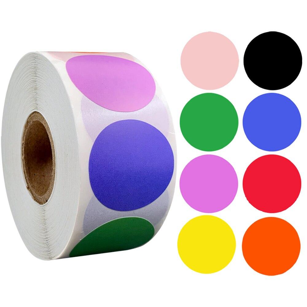 rollo-de-etiquetas-adhesivas-croma-etiquetas-adhesivas-de-1-pulgada-redondas-rojas-amarillas-azules-rosas-de-papeleria-100-500-uds