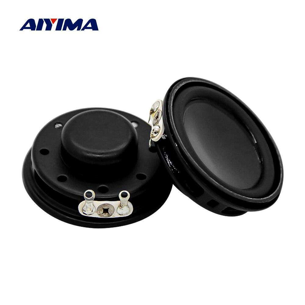 Aiyima 2pc 1.4 Polegada alto-falantes de música multimídia gama completa 4 ohm 3w 36mm ultra-fino magnético mini alto-falante de cinema em casa