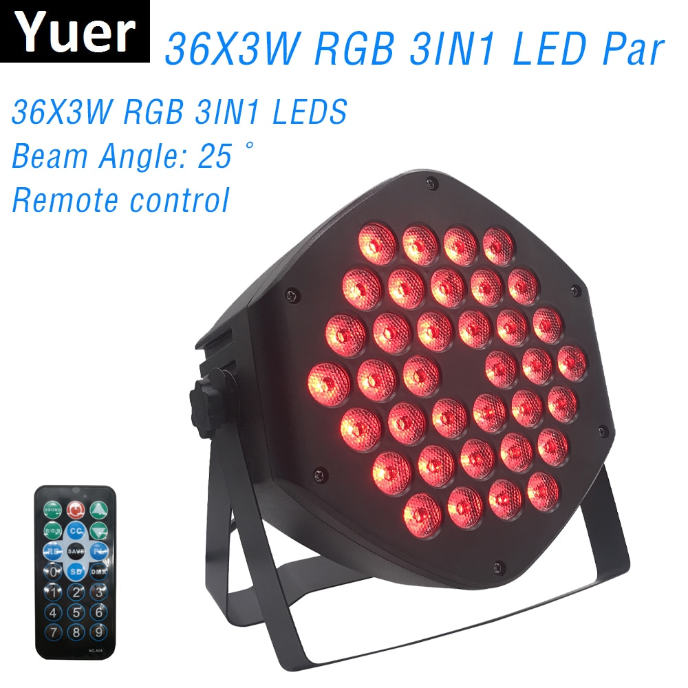 Luces Par LED 36X3W DJ LED RGB luces Par RGB 3 en 1 efecto controlador de luz de discoteca DMX para iluminación de escenario Pequeño Paty KTV